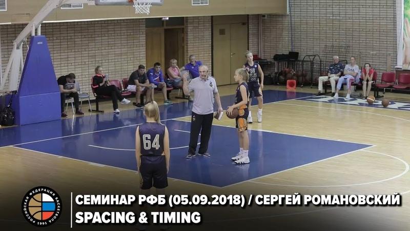 Семинар РФБ 05 09 2018 Сергей Романовский Spacing Timing
