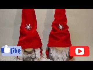 Как сделать скандинавского гнома быстро// Идея новогодней  поделки//Scandinavian gnomes
