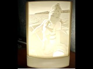 Литофания ночник сделанный на 3D принтере Two Trees Bluer.  lithophania night light 3D printed. vlog
