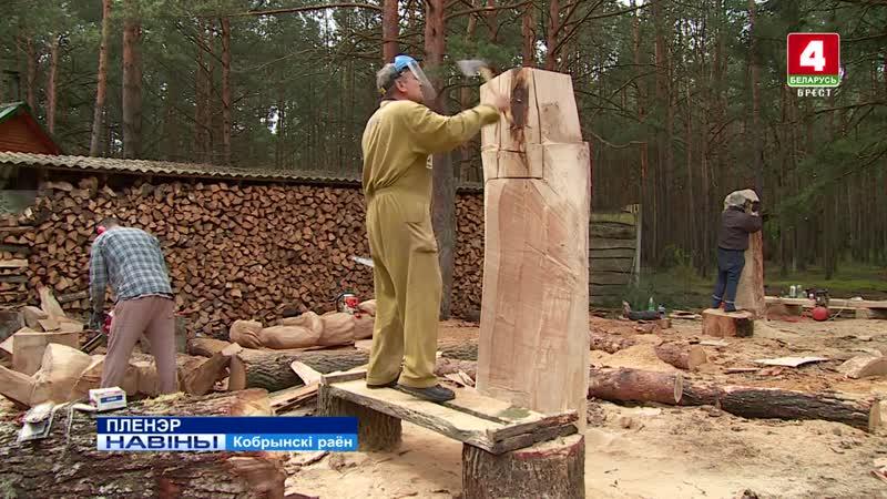 В агрогородке Дивин проходит Брестский областной пленэр резчиков по дереву