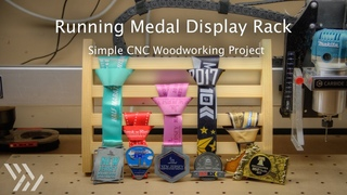 Running Medal Display Rack CNC Project - #124