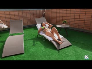 Kriss Kiss - Sexy Teen Loves Getting Oil Massage Outdoors [All Sex, Hardcore, Blowjob, Gonzo]