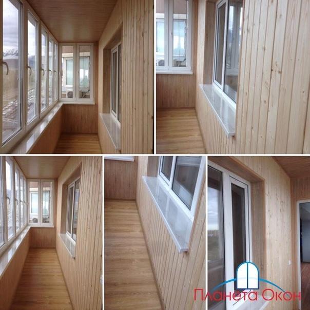 фото отделки балконов в деревянном доме для