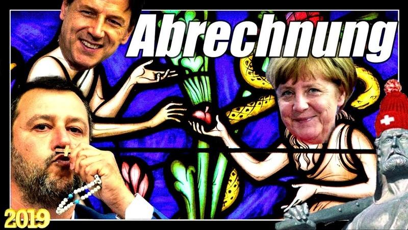 Salvinis Abrechnung mit Conte, Merkel Macron | Salvinis Kampfansage