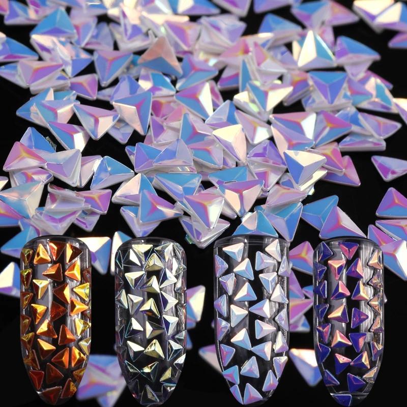 Модный маникюр с покрытием ногтей «Чешуя дракона», изображение №9