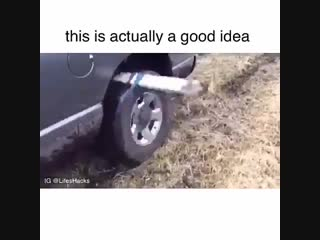 Just incase your car gets stuck one day