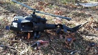 Вертолет  Bell UH 1 Iroquois из пластилина выносливый летун