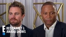 Stephen Amell David Ramsey Talk What's Next for Arrow E Red Carpet Award Shows