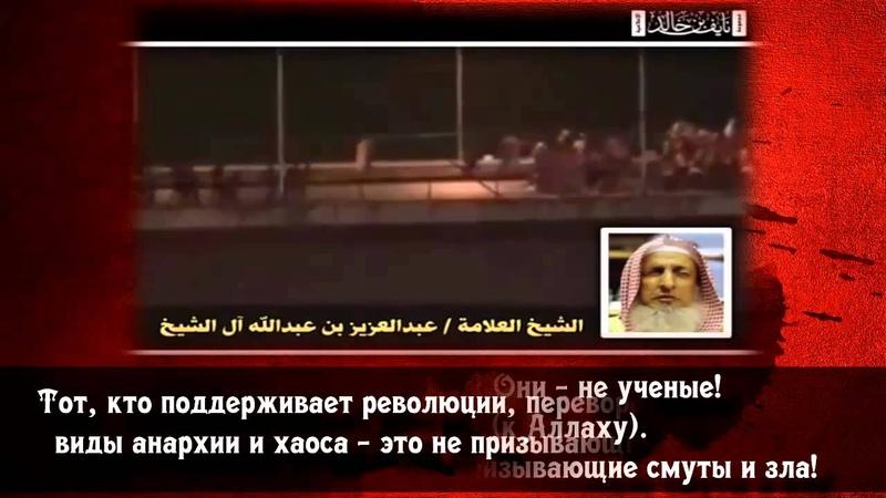 Шейх Абдуль-Азиз Али Шейх Кто поддерживает революции, тот не ученый и не призывающий