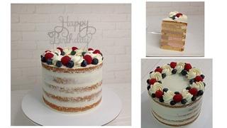 торт в стиле NAKED CAKE / ГОЛЫЙ ТОРТ как собрать, чем выравнивать  и украсить! от Торты и Кулинария