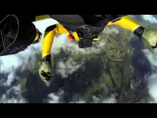 Jetman flies over Mount Fuji Yves Rossy soars over Japanese volcano using jet pack1