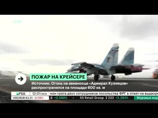 На авианесущем крейсере Адмирал Кузнецов произошел пожар