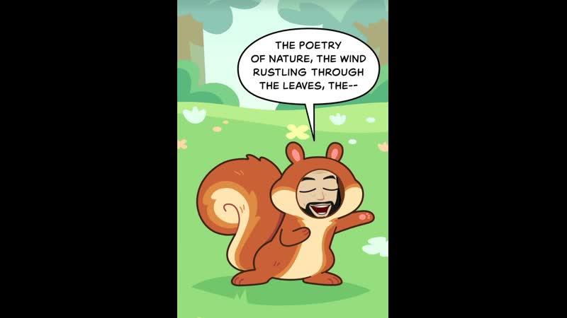 Бородач белка✌️😜 комикс борода бородач комикс белка природа животные жёлудь