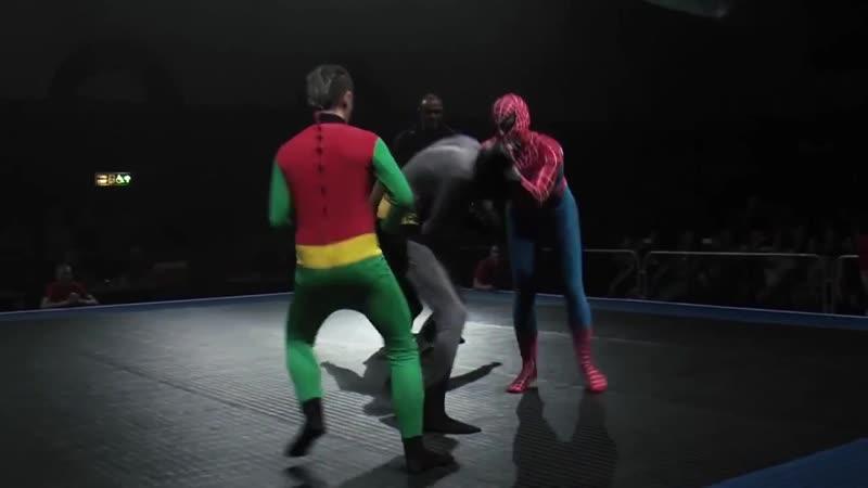 Бэтмен и Робин vs Человек паук прикол