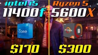 i5-11400F vs. Ryzen 5 5600X | Test in 8 Games
