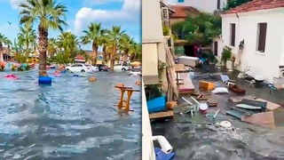SHOCKING VIDEO! Tsunami in Izmir, Turkey (Oct 30, 2020)