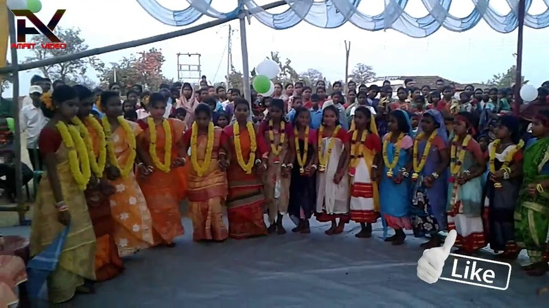 Ajodhya Pahar-Jadugora School Girls Dance 2018  স্কুল মেয়ের নাচ