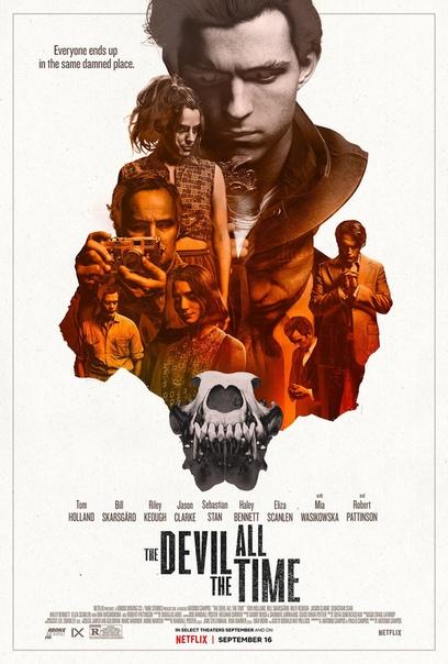 Постер готического вестерна «Дьявол всегда здесь» Действие картины разворачивается в течение двух десятилетий и рассказывает о паре серийных убийц, проповеднике, проверяющем свою веру, и